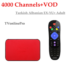 New Ipremium TVonlineProTurkish EXYU IPTV 4000 Channels+Adult HotClub+VOD Android 6.0 base Mickyhop OS 4K BlueTooth Smart TV Box(China)