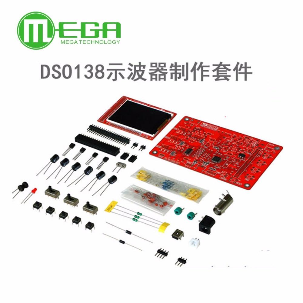 1set DSO138 DS0138 2.4 TFT Pocket-size Digital Oscilloscope Kit DIY Parts ( Not Soldered)