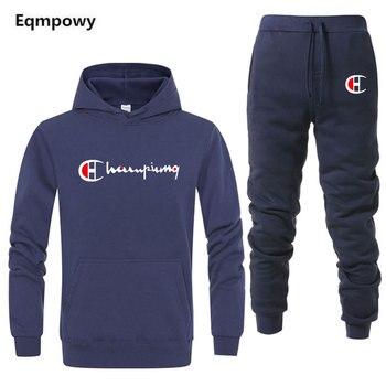 64c225164 Nuevo 2019 hombres trajes Outwear sudaderas con capucha ropa deportiva  conjuntos Hombre Sudaderas chaqueta hombres ropa + Pantalones plus tamaño