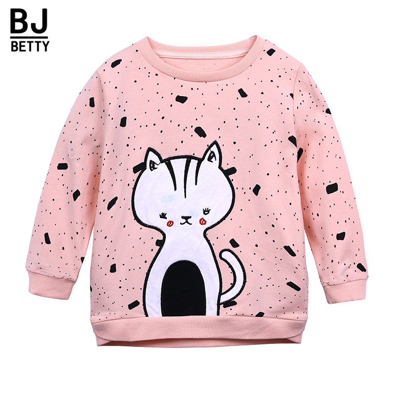 fc40a7fd6 Hot 2018 spring and autumn girls baby long sleeves T-shirt childrens ...