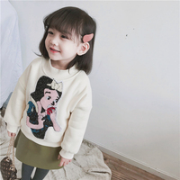 2019 Autumn Winter Fur Coat Jacket For Girls Childrens Long Clothes Kids Baby Cute Hooded Warm Windbreaker Outerwear 008