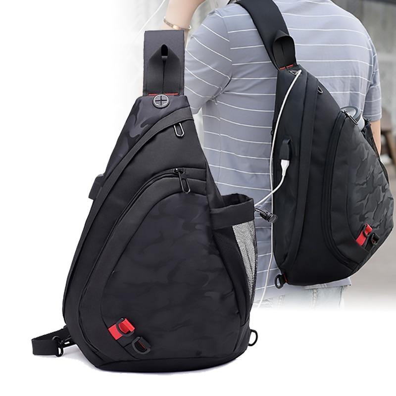 Fengdong 2017 New Men Fashion Leisure Male Chest Pack Camouflage Printed Messenger Shoulder Bag Triangle Backpack messenger bag