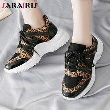 SARAIRIS 2019 Spring Autumn INS Hot Leopard Sneakers Women Large Size 36-42 Fashion Ladies Tennis Shoe Casual Shoes Woman
