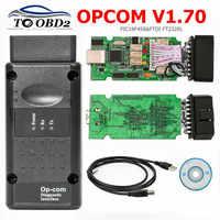 Opcom v1.70 obd2 scanner de diagnóstico para opel carro op com 1.70 interface obd pic18f458 + ftdi ft232rl ferramenta de diagnóstico