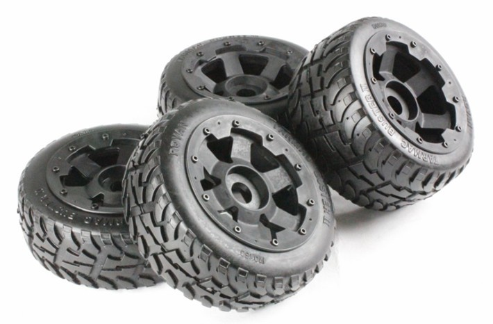 road tire assembly New stytle hubs for HPI KM ROVAN BAJA 5Broad tire assembly New stytle hubs for HPI KM ROVAN BAJA 5B