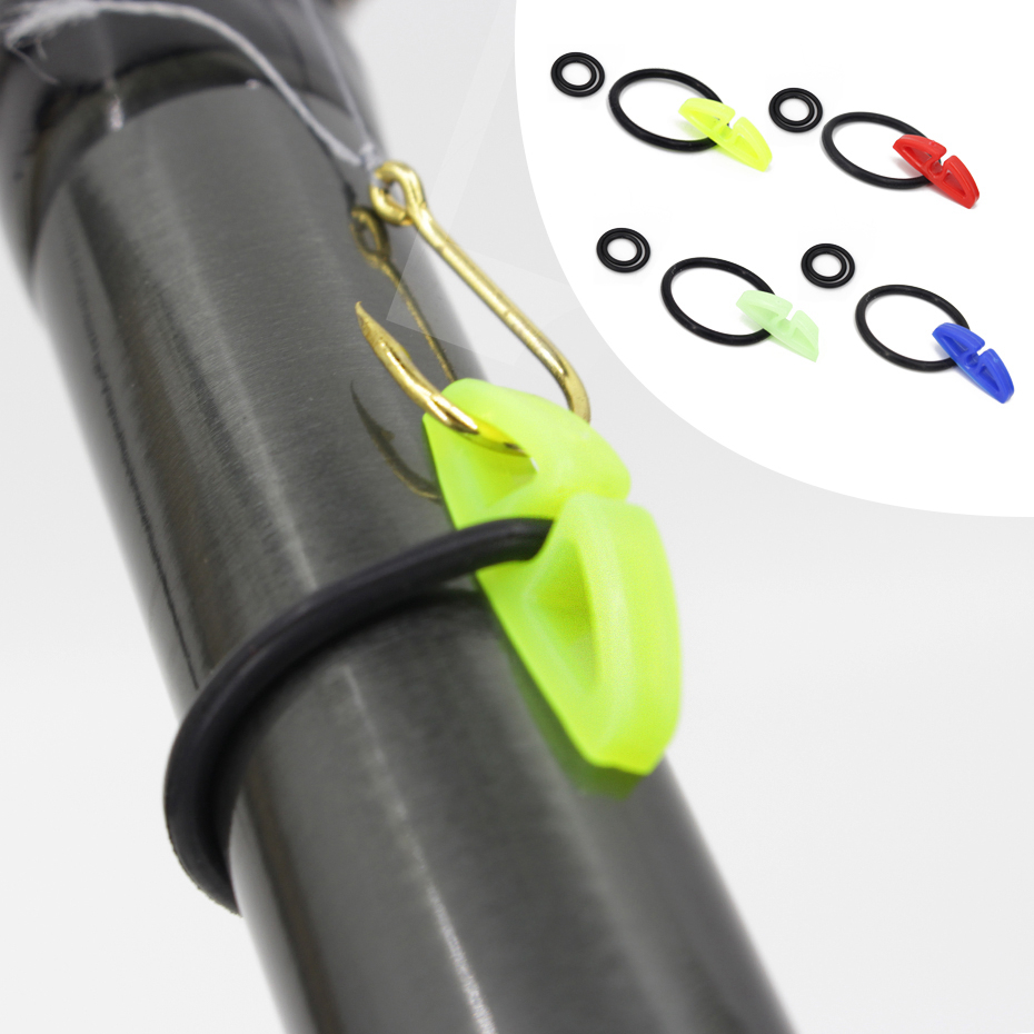 YINGTOUMAN  Fishing Accessories Fish Hook Secure Keepers Holders Lures Jig Hooks Safe Keeping For Fishing Rod  Fishing Tackle