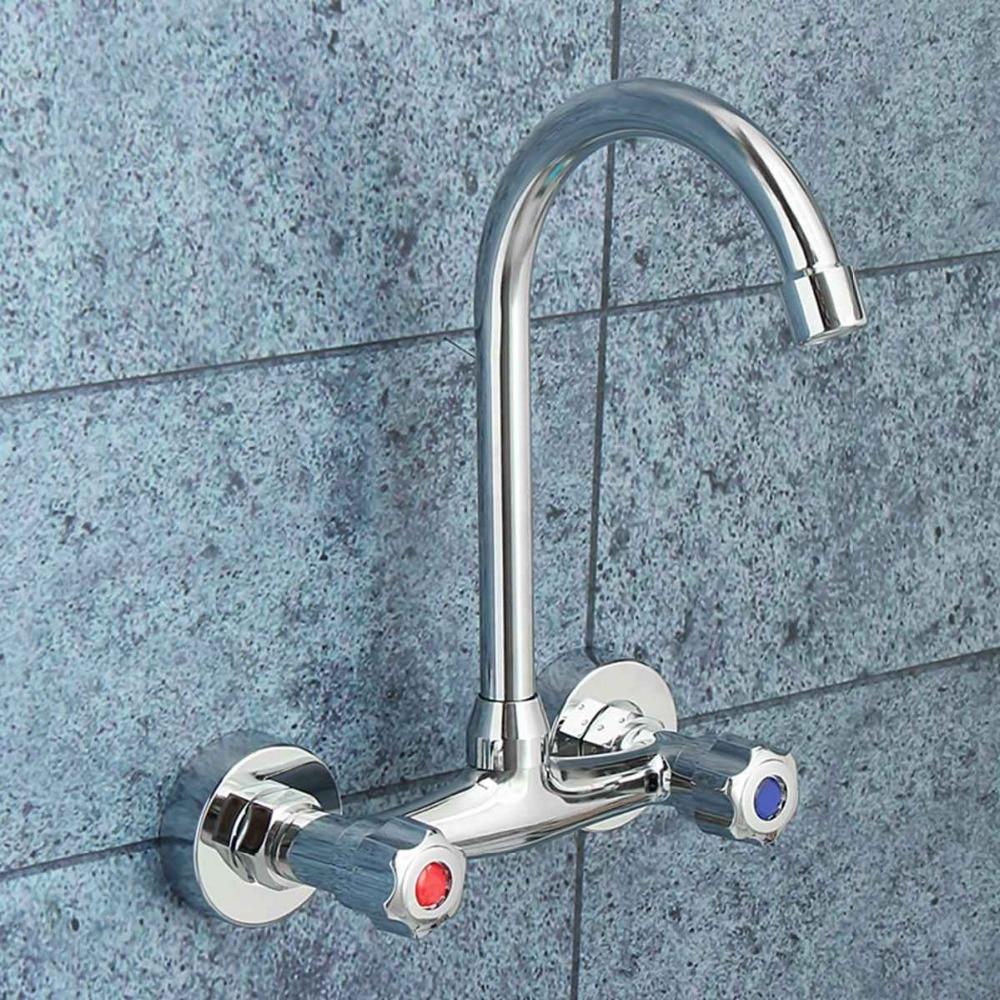 Xueqin Extended Spout Bathroom Basin Faucet Single Handle Chrome ...