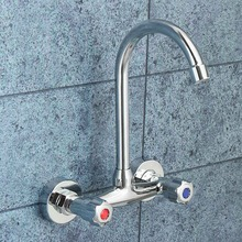 Xueqin Double Handle Deck Mounted Basin Faucets Bath Shower Faucets Dual  Hole Bathroom Sink Washbasin Water Mixer Tap
