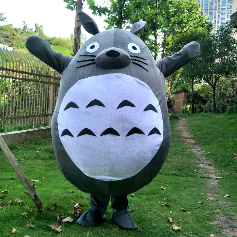 Totoro Costume De Mascotte Chat Mon Voisin Chaude Haute Qualité Chat Fantaisie Robe Cosplay Costumes Belle Chat Cosplay Tenues Adulte Taille