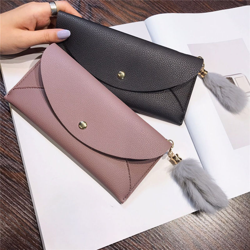 New Hot Fashion Brand Leather Women Wallets Long Thin Ladies Coin Purse Cards Holder Clutch Bag Magic Wallet Female