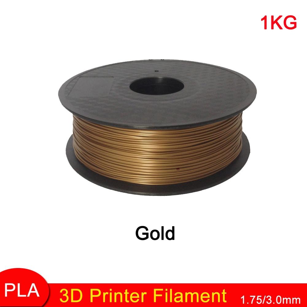 ФОТО Hot sale ! Glod color 3d printer filament PLA 1.75mm 1kg Consumables Material MakerBot/RepRap/UP/Mendel 3D pen Graffiti mold