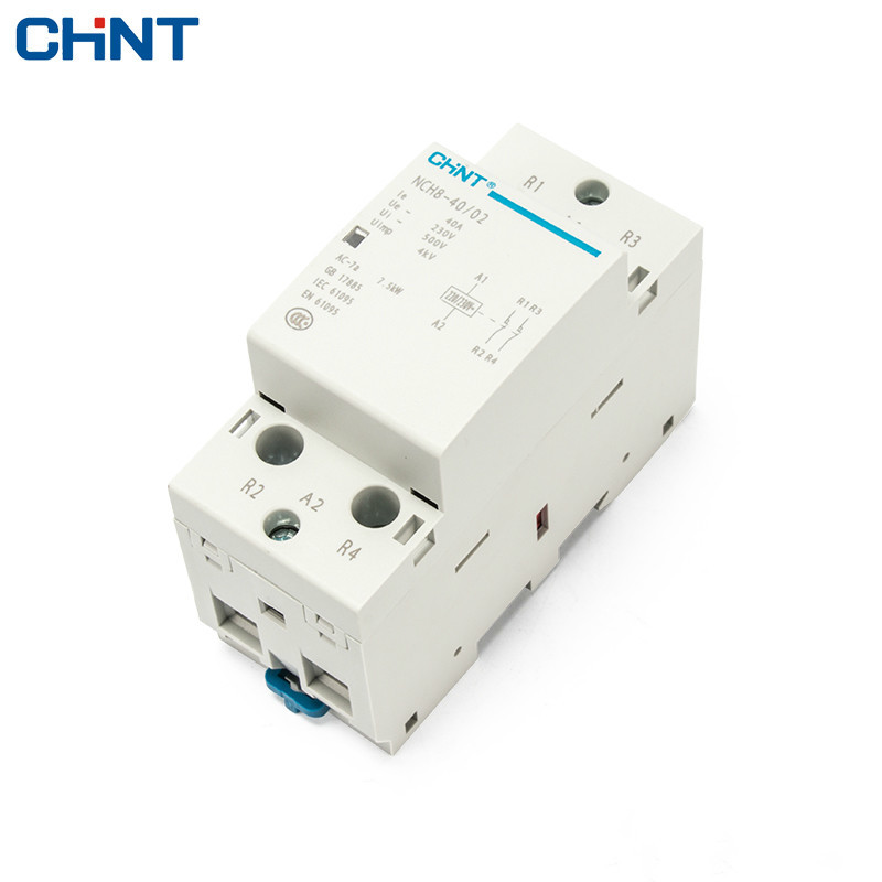 CHINT Household Small Single-phase AC Contactor 220V Rail Type NCH8-40 / 02 Two Normally Closed 40A SecurityCHINT Household Small Single-phase AC Contactor 220V Rail Type NCH8-40 / 02 Two Normally Closed 40A Security
