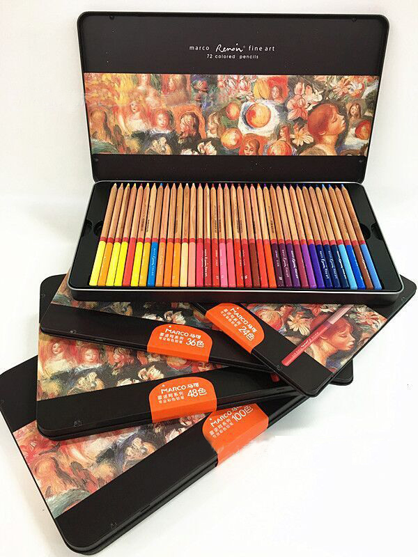 Marco Professional 24~72 Colored Pencils Drawing Colors ...
