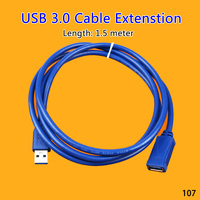 ChengHaoRan 25 30 50pcs by DHL USB Extension Cable 1.5/3/5M USB 3.0 Male to Female durable Extension Data Sync Cord Cable 5Gbps