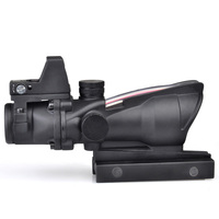 Tactical Aim Optical Sight ACOG 4x32 LED Scope With Mini Red Dot Scope For Hunting Collimating