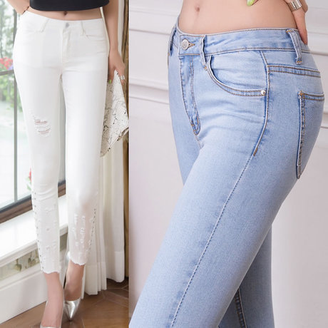 White Denim Pants For Women | Pant So