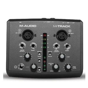 Image 1 - Boutique Original M audio m track usb audio interface sound card external 2 in 2 out professional for recording free shipping