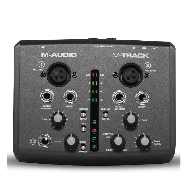 Boutique Original M audio m track usb audio interface sound card external 2 in 2 out professional for recording free shipping