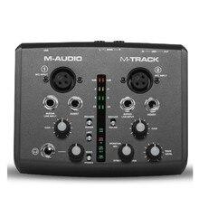 부티크 오리지널 m 오디오 m 트랙 usb 오디오 인터페이스 사운드 카드 외부 2 in 2 out 전문 녹음 무료 배송
