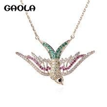 Gaola винтажные ожерелья с птицами подвески серебряного цвета