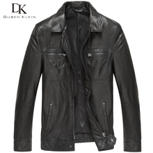 Brand 2017 New Men Genuine Leather Jacket Tanned Leather Black/Slim/Simple Casual/Sheepskin Coat 15S1421