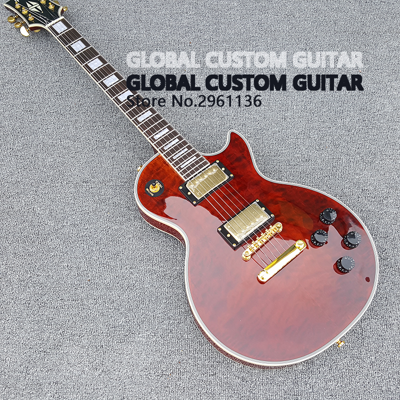 NEW High quality,LP Custom Electric Guitar,Real photos,free shipping 2016 new light blue imitation old st electric guitar good body real guitar photos free shipping