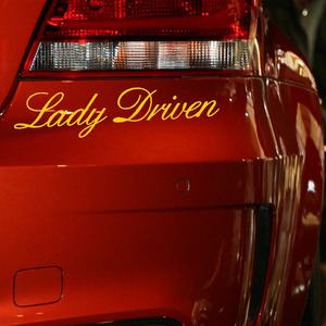 Image 1 - EmpireYing 3 Sizes 8 Colors Funny Lettering Art Girl Fresh Lady Driven Word Car Sticker Wall Door Laptop Car Styling Decal Gifts