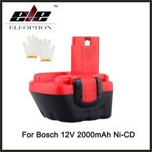 Eleoption 12 V Ni-cd 2000 mAh Batterie D'outils Électriques pour Bosch GSR BAT043/045 BTA120 26073 35430
