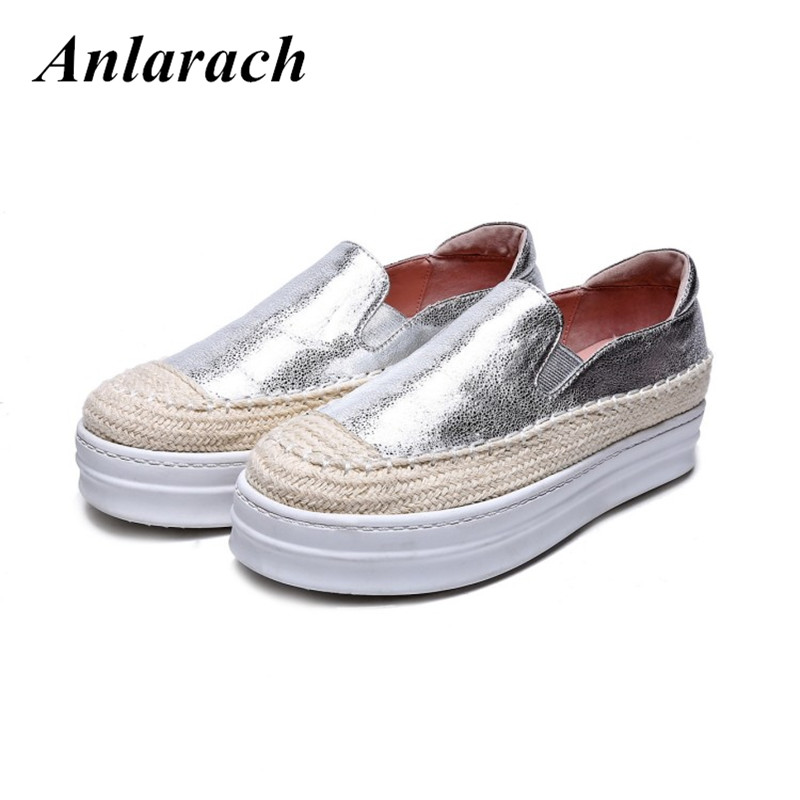 Women Famous Genuine Leather Espadrilles For Women brand Girls Footwear Platform Shoes Woman Casual Loafers Ladies Flat Shoes 2016 famous brand shoes golden goose oro women men basse genuine leather gz ggdb casual shoes stella noires superestrella ganso