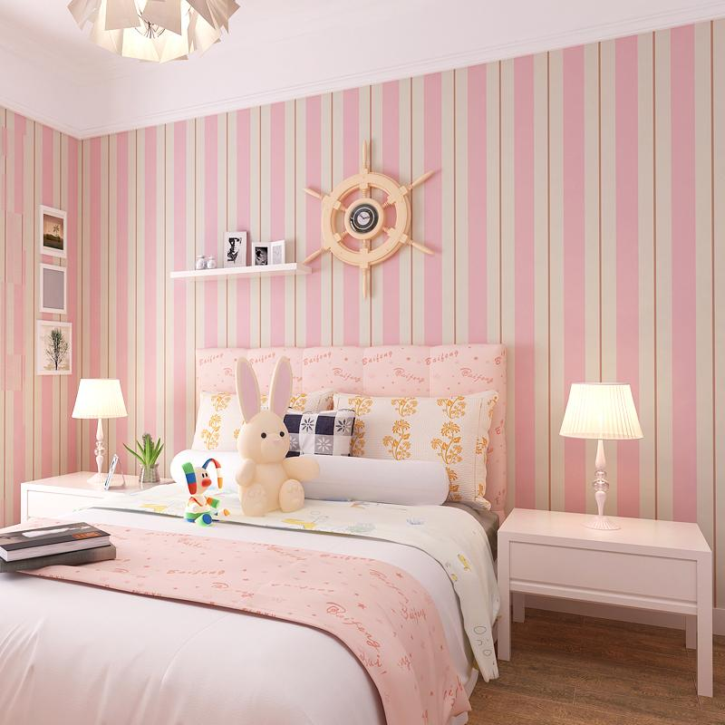 New pattern striped wallpaper,Blue and white and Pink stripe wall ...