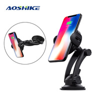 Aoshike Infrared Sensor Wireless Car Charger Mount Air Vent Suction Mount Phone For iPhone 8 8 Plus X Samsung S8 S9 Plus