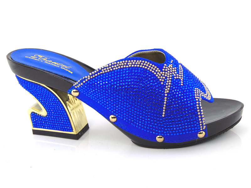 6eca2530b Women Sandals 2016 Ladies Summer Slippers Shoes Women Low Heels Sandals  Large Size 37 43 Fashion blue Rhinestone Shoes blue-in Women s Pumps from  Shoes on ...
