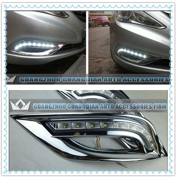 Guang Dian car led light For G8 Sonata fog light LED daytime running light with high bright 9LED  DRL driving lights guang dian car led light gold color daytime running lights