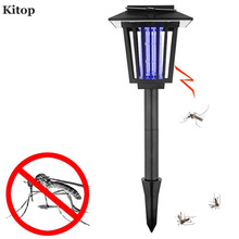 Kitop LED Solar Powered Light UV White Anti Mosquito Insect Pest Bug Killer Outdoor Yard Garden Lawn Hanging Lantern Lamp
