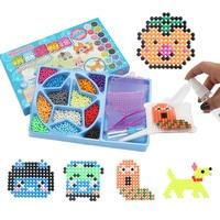 12 di colore di Acqua Aqua perline sticky pegboard fusibile jigsaw puzzle giocattoli educativi fai da te Puzzle Per bambini Per Bambini di compleanno Regalo Di Natale
