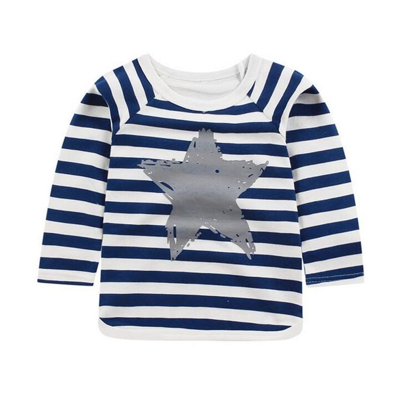 0-4 T Baby Tops Langarm Kinder T Shirts Jungen Gilrs Kleidung Kinder T Shirt 100% Baumwolle Cartoon T-shirt Kataloge Werden Auf Anfrage Verschickt