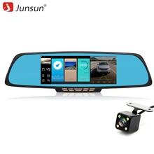 """Junsun 6.86 """"Автомобильные видеорегистраторы ADAS зеркало заднего вида с DVR и камера PIP видеомагнитофон autoregistrators Двойной объектив 1080 P dashcam WI-FI"""