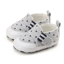 Summer Baby Girl Boy Soft Bottom Walking Canvas Shoes First Walkers Boy Girl Striped Anti-Slip Sneakers Shoes