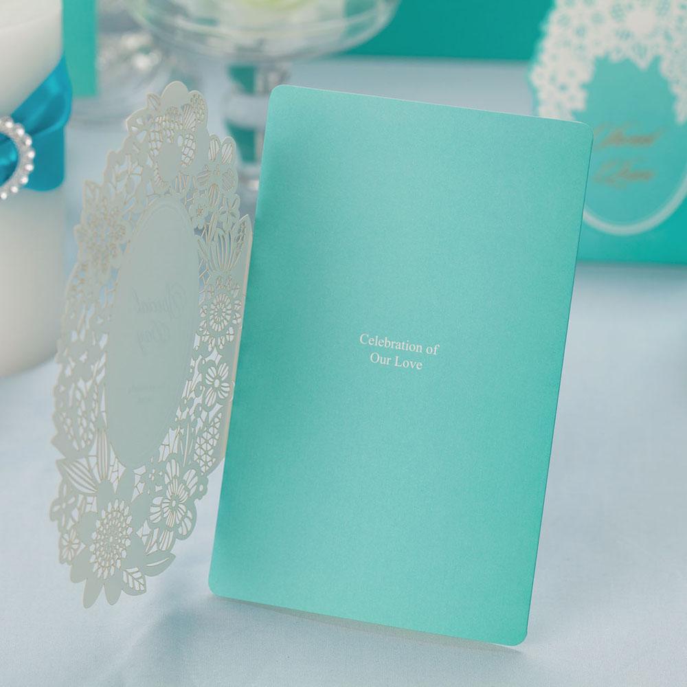 Tiffany Laser cut Wedding Invitation cards, Free Personalized ...