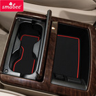 smabee Gate slot pad For NISSAN ELGRAND E52 2011-2016 Interior Door Pad/Cup Dust mats Water Coaster Non-slip RED/WHITE/BLACK