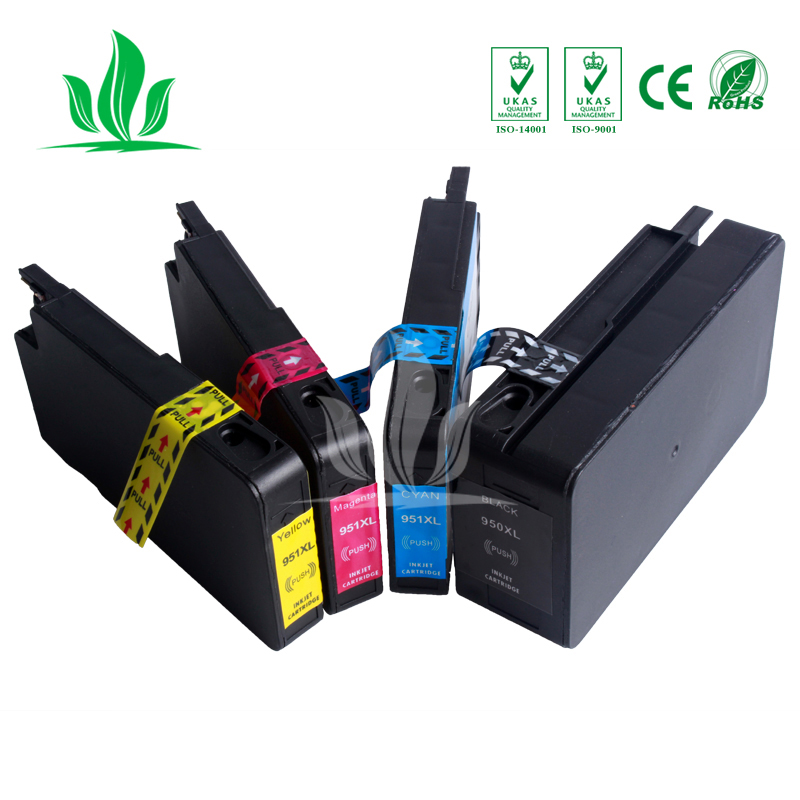 Compatible 950 951 XL Ink Cartridge Replacement for HP 950 951 HP950 HP951 Officejet Pro 8100 ePrinter 8600 Plus Printer ZH
