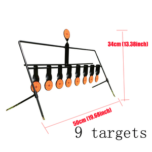 Image 5 - الرماية في الهواء الطلق 5/7/9 إعادة تعيين الهدف الدائري الألوان AirSoft BB الرصاص اطلاق النار الهدف تطبيق الهدف