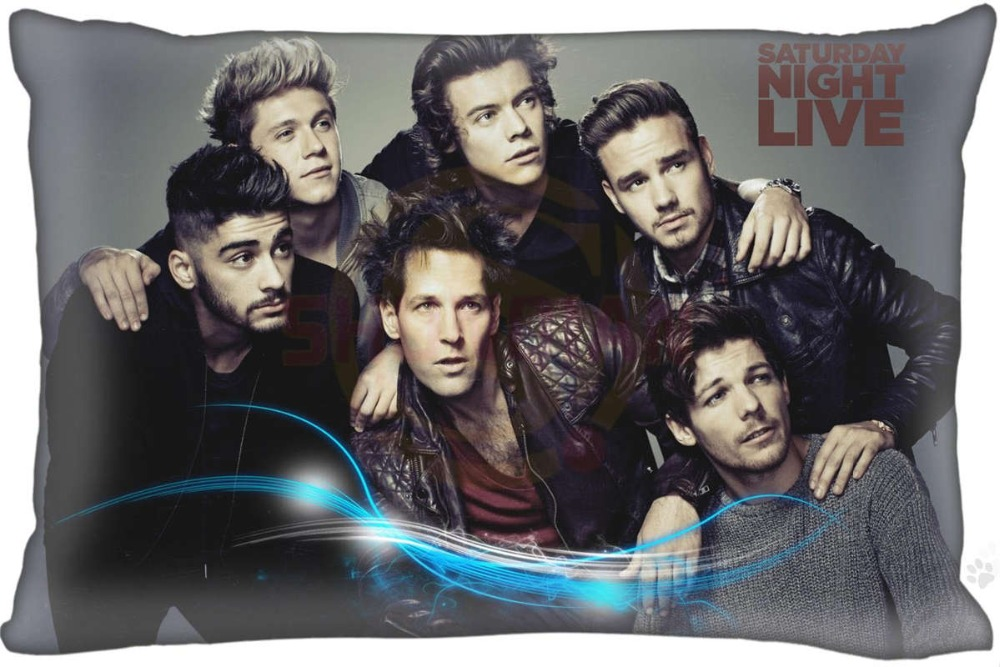 New Custom One Direction Pillowcase Zippered Rectangle Pillow Cover Cases Size 45X35cm,40x60cm,45X75cm,50X75cm(Two sides)
