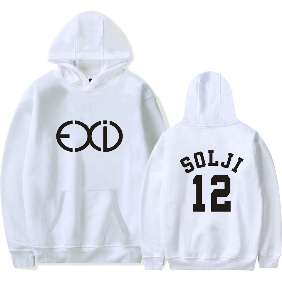Spirited Exid Solji Hani Hyterin Le Hip Hop Hooded Sweatshirt Personality Letter Printing Unisex Casual Hooded Thin Sweatshirt Pocket Pip Men's Clothing