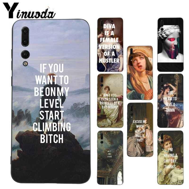 Yinuoda Klassische Kunst david Memes Zitate telefon Fall für Huawei P20pro mate10lite p9 p10plus honor 8x 7A nova3i mate20lite funda