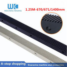 1 Pc 1.25 Mod Spiraalvormige Rack 1400 Mm 670 Mm Tandwielkasten Rack En 1.25MOD Metalen Staal Pinion Gear Set voor Cnc Machine(China)