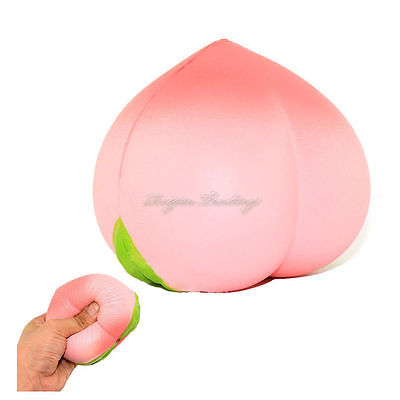 1 pcs Colossal 10CM Squishy Pink White Peach Slow Rising Cream Scented Novelty Toys Random Color
