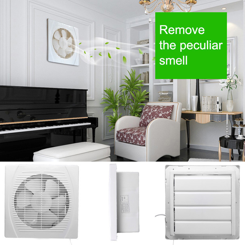 Home Appliances Household Appliances Fan Hole Size 240x240mm 8inch 30w Exhaust Fan Ventilation Blower Window Wall Kitchen Bathroom Toilet 220v To Have A Unique National Style
