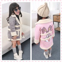 Fashion-Winter-Girls-Jackets-Coats-Cartoon-Rabbit-Children-Clothing-Kids-Long-Coat-Warm-Autumn-Outerwear-Clothes