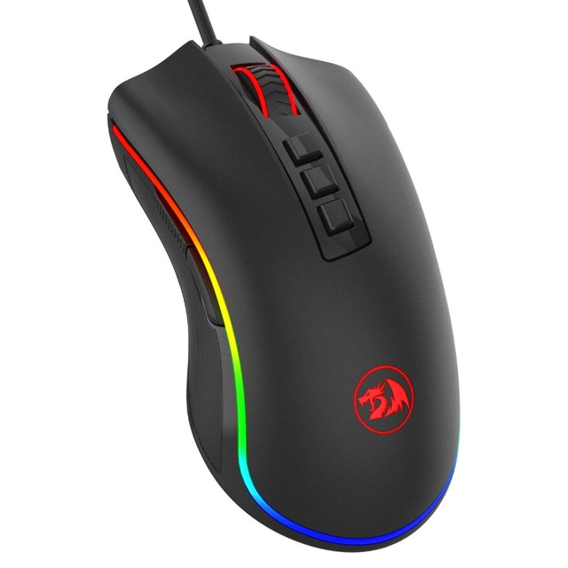 Redragon COBRA M711 Chroma 10000 DPI przewodowa mysz do gier 16.8 mln kolorów RGB podświetlany 7 programowalne przyciski optyczna LED PC lol